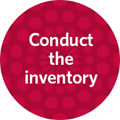 conduct the inventory
