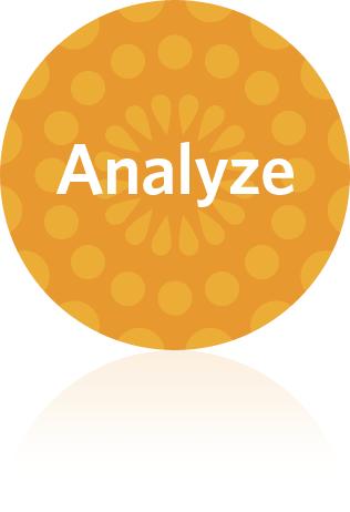 evaluate and analyze