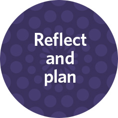 reflect and plan